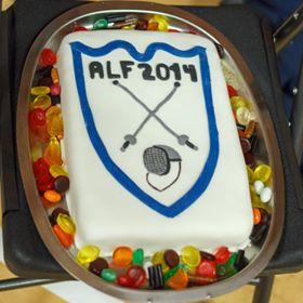 Kage med ALFs logo.