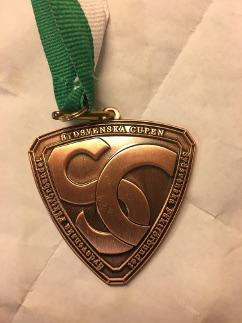 Bronzemedalje fra stævneserien Sydsvenska Cupen.